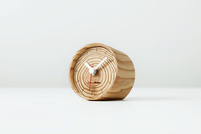 年輪の置時計