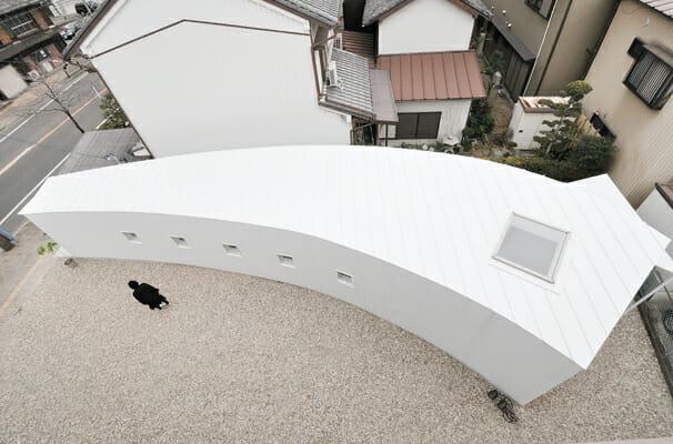 曲線の小さなワンルーム