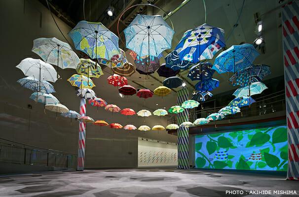 鈴木マサル傘展 持ち歩くテキスタイル