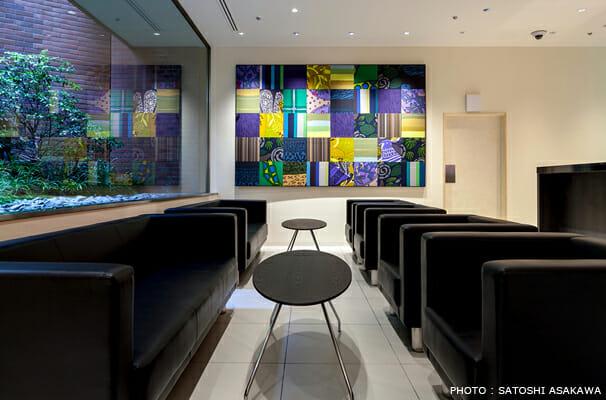 銀座グランドホテル フロントロビー アートワーク (3)