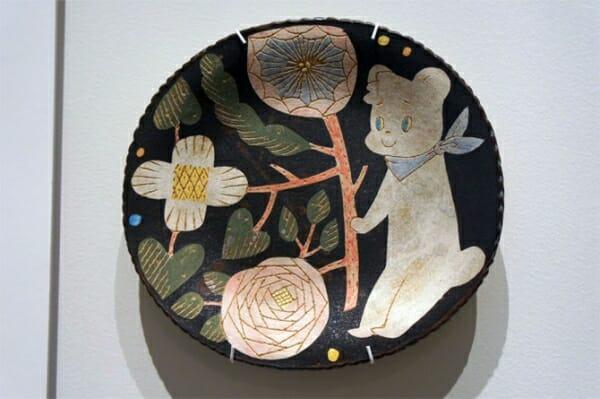 「ファミちゃん」が描かれているお皿