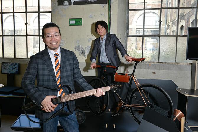 両ヤマハのデザイン部門長 川田氏(左)、長屋氏(右)