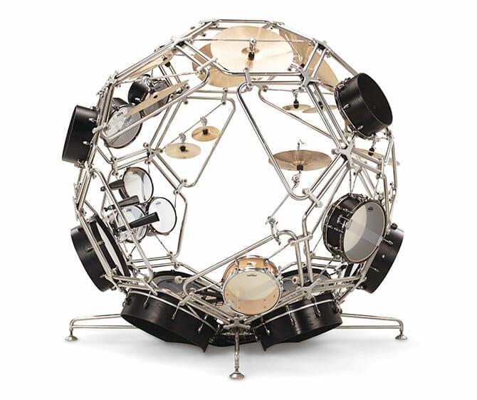 Drums(prototype) / RAIJIN(God of the Thunder) ドラム楽器の中で暴れ回るように演奏できる球体