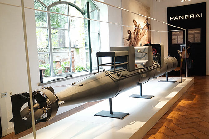 PANERAI、第二次大戦で使われた潜水艇の模型