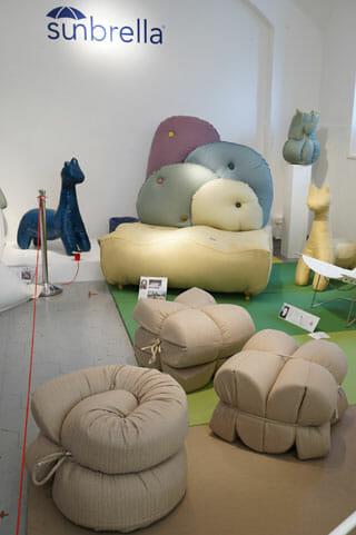 sunbrella、昨年ここロッサーナオルランディで展示されていた長坂常のデザイン
