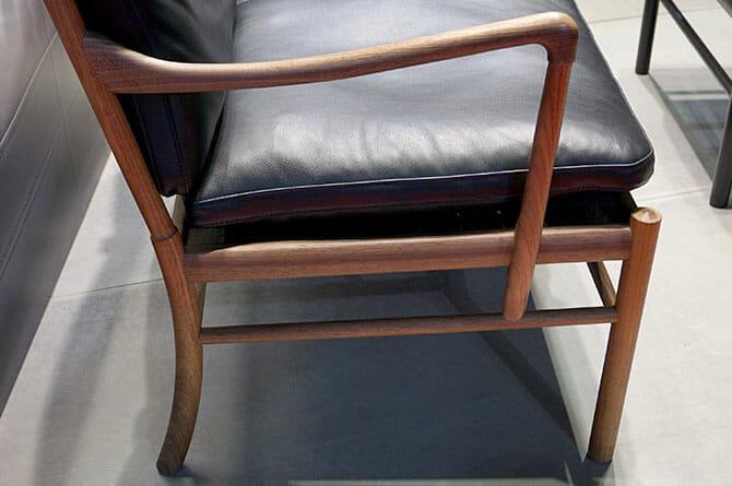 オーレ・ヴァンシャー(Ole Wanscher)「OW149 Colnial Chair」肘掛け部