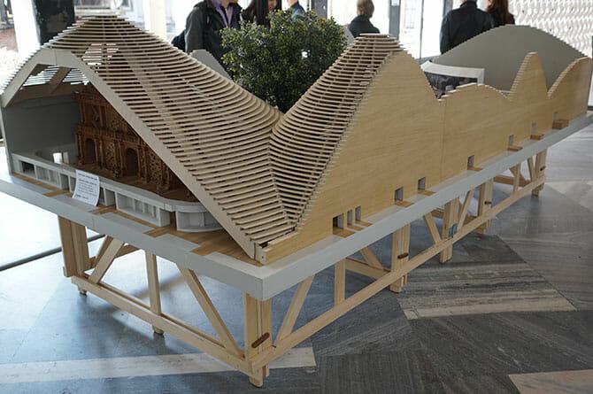 ミラノエキスポのパビリオン模型