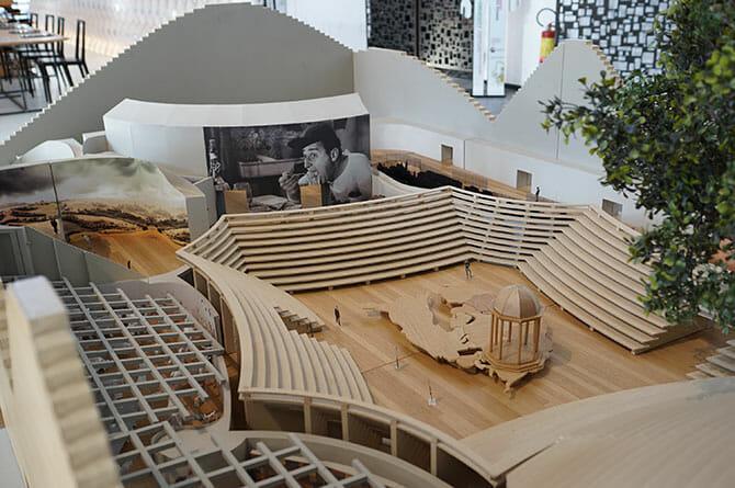 ミラノエキスポのパビリオン模型、建築はミケーレ・デ・ルッキ