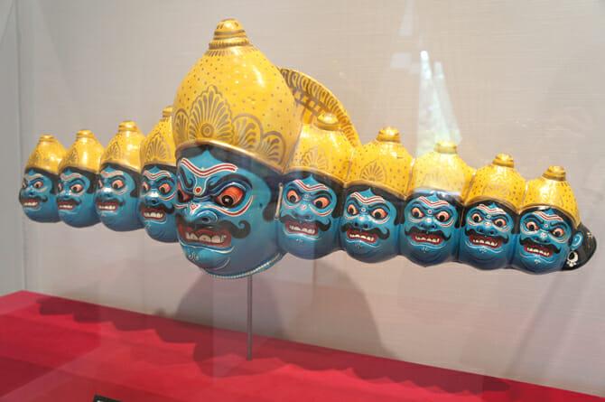 舞踊チョウのラーヴァナの仮面【インド】