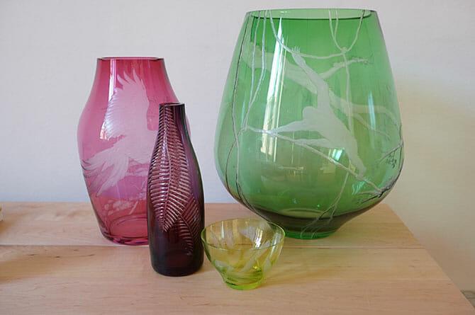 クリスチャン・ハースによるガラスの器