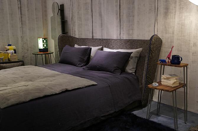 LETTI & CO.、GERVASONIブース内で展開していた寝具ブランド