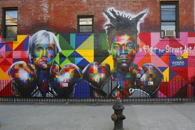 NYに描かれた、アンディ・ウォーホルとバスキア Sean Pavone / Shutterstock.com