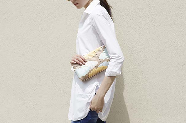 Yuzen Clutch Bag(瑞雲柄) (3)