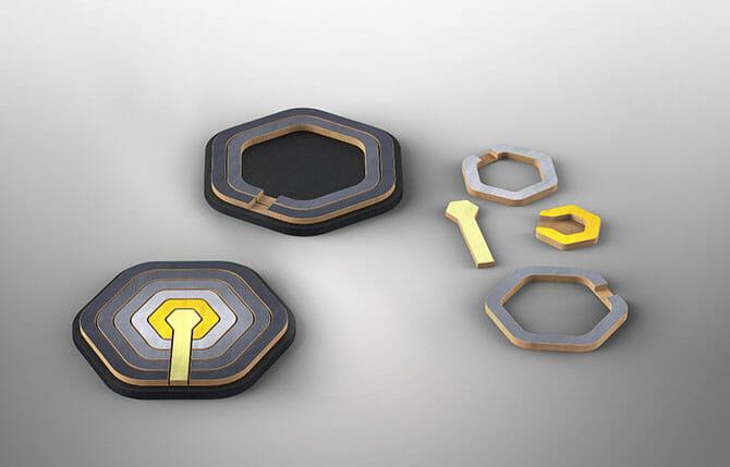 アリック・レヴィの「Concentric Puzzle」(Danese)
