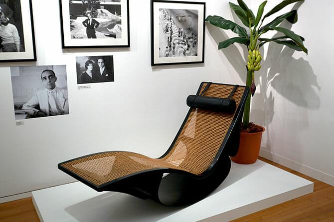 ニーマイヤーがデザインした椅子、天童木工の工場がブラジルにあった当時、作成したプロトタイプ