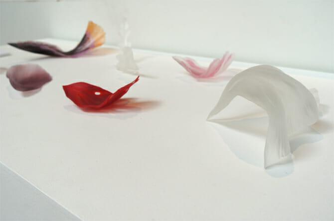 小曽川瑠那氏のガラス作品