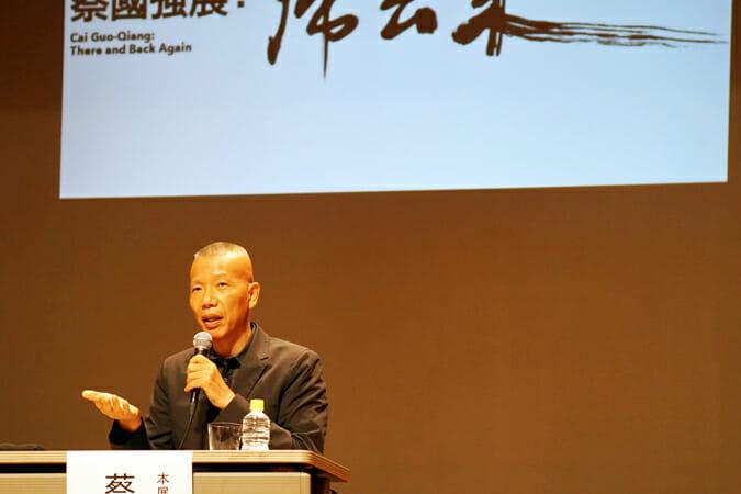 蔡國強氏(7月10日に行われた展覧会の開幕記者会見にて)
