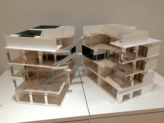 富山キラリの建築模型