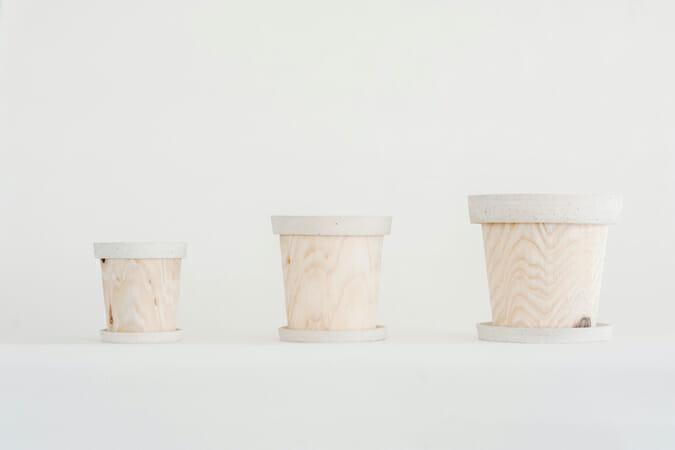 TIMBER POT+ / Pottery / White