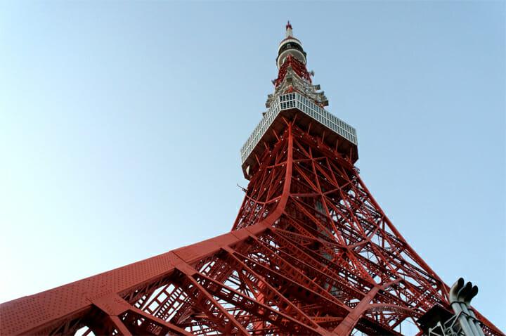 会場からすぐの東京タワー