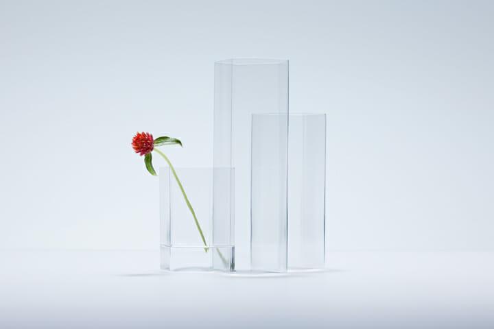 変形多角形による角柱グラス (4)