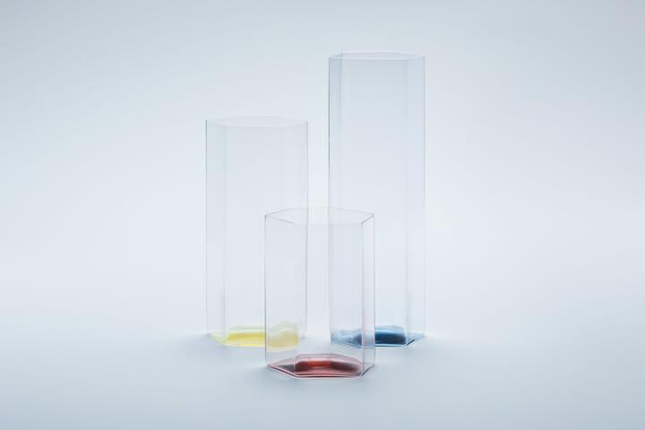 変形多角形による角柱グラス (1)