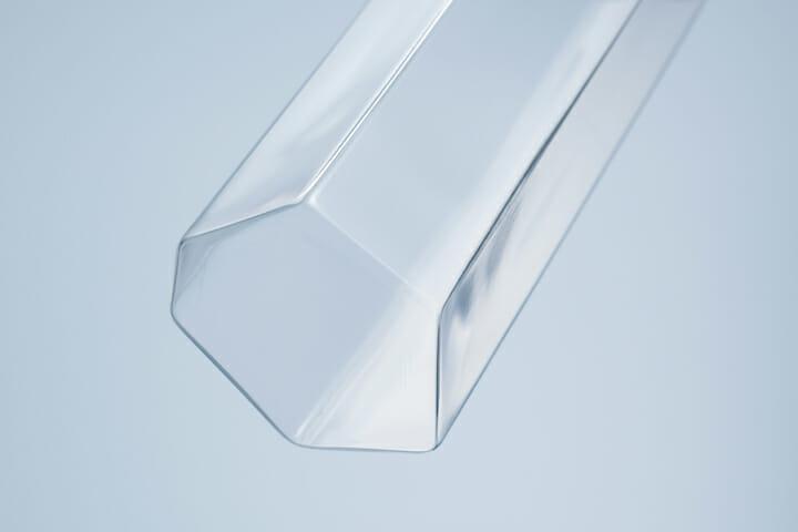 変形多角形による角柱グラス (3)