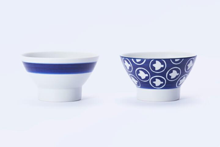 (左から)縞柄、絵柄シリーズの「ひばり」