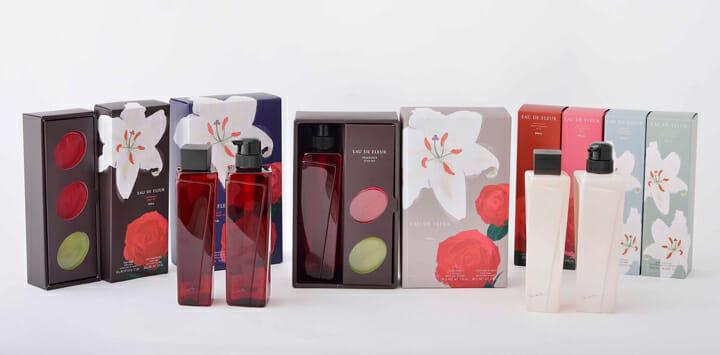 【日本パッケージデザイン大賞2015 大賞】ポーラ オー ド フルール / 株式会社ポーラ:花本来のリアルな香りを伝えるため、情緒感が伝わる絵画表現を用いたパッケージ