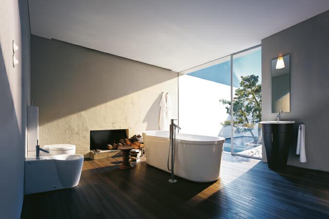 フィリップ・スタルクがデザインした「Starck 1」シリーズ。衛生陶器業界に革命をもたらしたとまで言われている