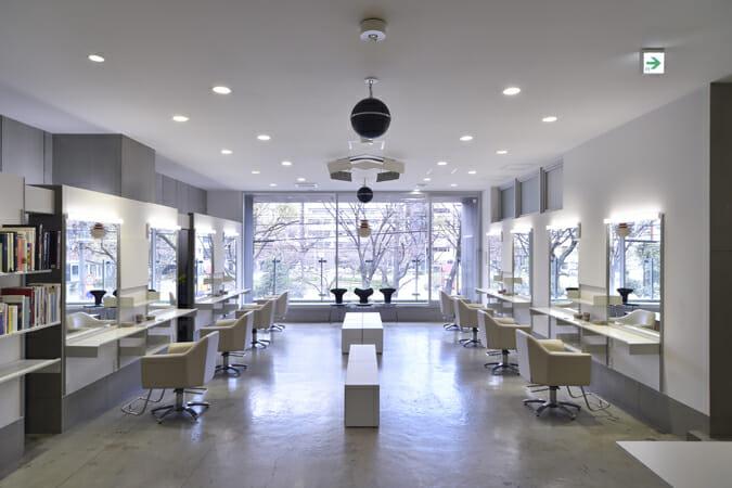 「wipe」施工事例-大阪・大阪市のヘアサロン「「インタラクションヘアデザイン」(撮影:松本崇志)