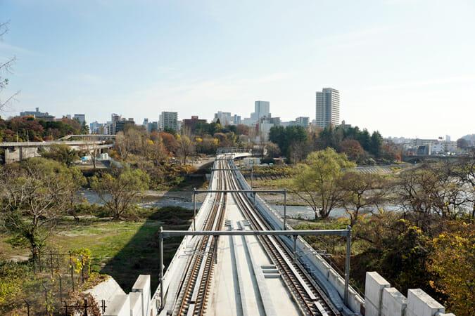 西の終点「国際センター駅」からの眺め