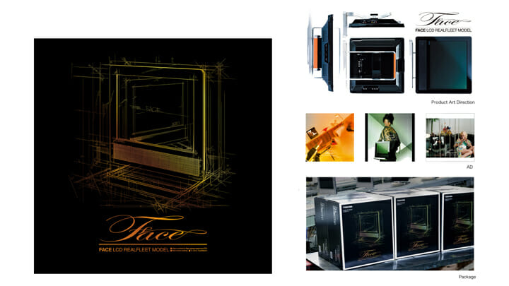 TOSHIBA「FACE LCD REALFLEET MODEL」/ART DIRECTION, GRAPHIC DESIGN width=
