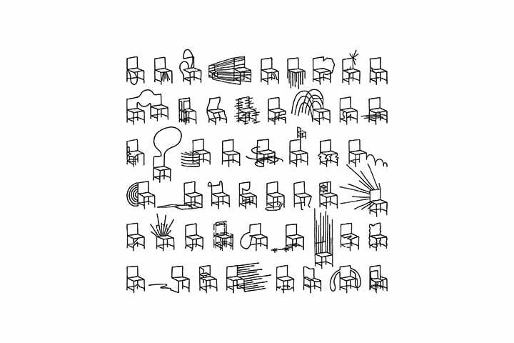 nendoの個展「50 manga chairs」をミラノサローネで開催、漫画の表現をモチーフにした50脚の椅子