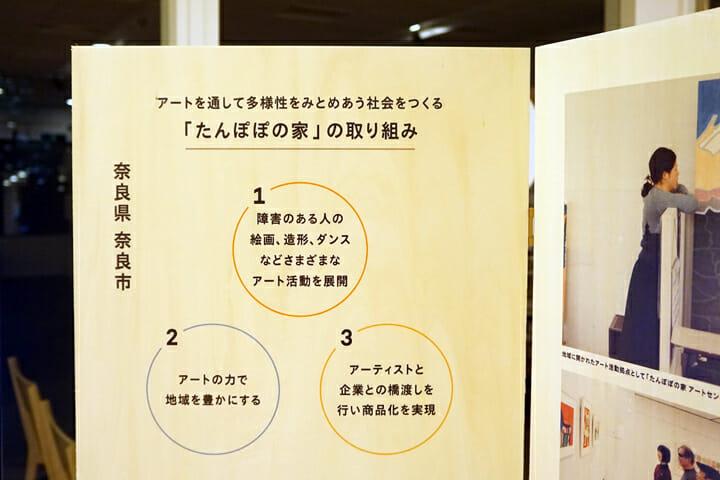 展示パネルには、プロジェクトの肝となる3つのポイントを記載