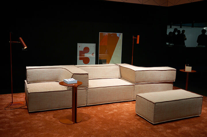 一つ一つの家具についてスペースを分けてコーディネートしていたCOR