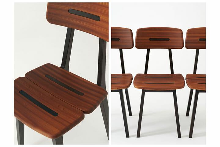 飛騨産業とアトリエ・オイのコラボレーション、杉柾目圧縮材を使った新作をミラノサローネで発表