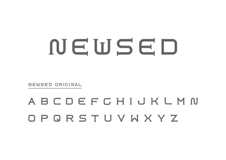 「NEW(ニュー)」と「USED(ユーズド)」という言葉を組み合わせたブランド名に合わせて、ロゴのフォントも昔っぽい要素とデジタルっぽい要素を組み合わせている