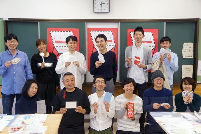 『「ペーパーカード」デザインコンペ2015』審査会の様子
