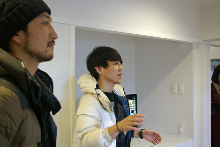 Rhizomatiksの建築チーム、「Rhizomatiks Architecture」から有國恵介さん(左)と田中陽さん