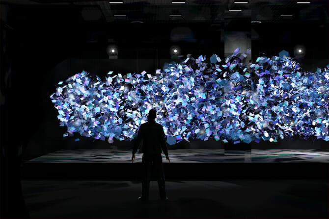 ガラスの分子構造を体感するAGC旭硝子の「Amorphous」、空間デザインをNOSIGNER、ライティングデザインを岡安泉氏が担当
