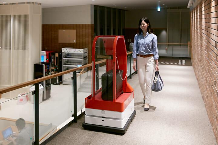部屋まで荷物を運んでくれる、ポーターロボット
