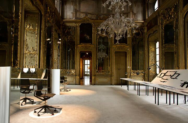 「A Matter of Perception」展に展示されたイタリア人デザイナー、アルベルト・メダによるオフィスチェア ©Rafael Medina Adalfio
