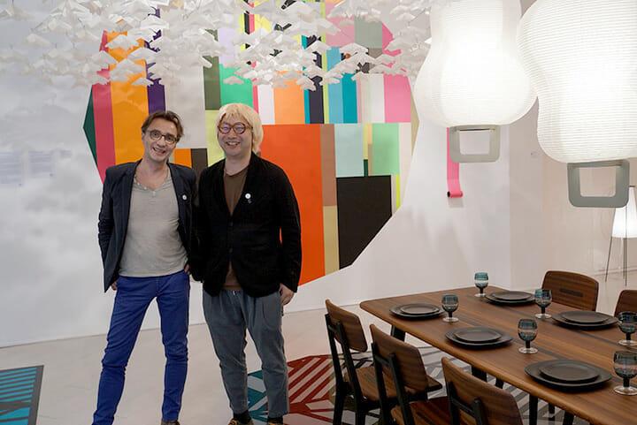 アトリエ・オイの代表兼デザイナーであるパトリック・レイモン氏(左)とSPREADの小林弘和氏