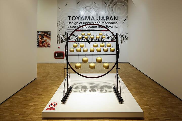 富山県の「TOYAMA JAPAN」展示の様子、撮影:大木大輔