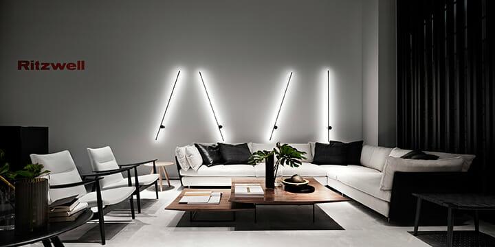 リッツウェル、デザイナー宮本晋作による新商品が発表された、ブースと空間インスタレーションはアート・ディレクターRoberto Di Stefanoによる Photo:Alberto Strada,Styling:Alessandra Orzali