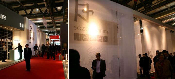 2008年のサローネに出展した「sozo_comm」の様子