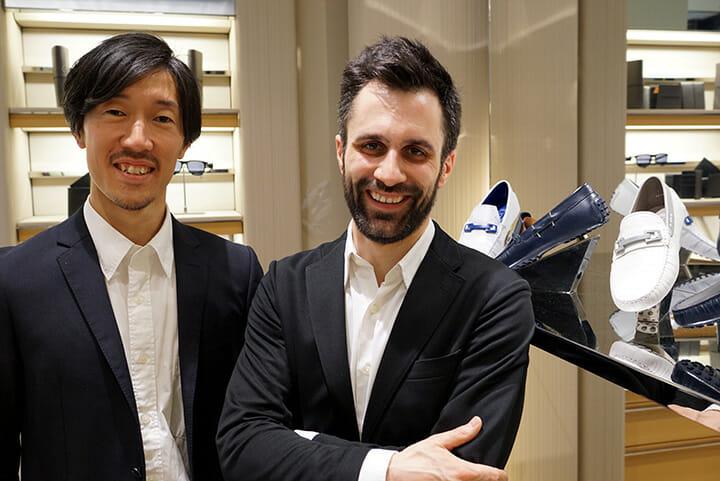 TOD'Sの「Looking at Tod's Leo」、東京とミラノをベースに活動するmist-o(池内野有氏とトンマーゾ・ナーニ氏)が参加し、セラミックをアクセントに使ったスリップオンを発表