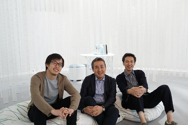 アイシン精機「Imagine New Days」、吉本英樹氏(左)、アイシン精機の岡雄一郎氏(中)、鈴木マサル氏(右)