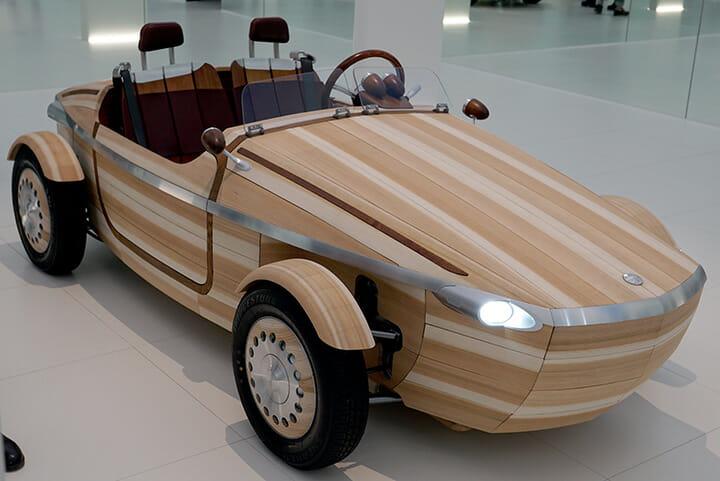 TOYOTA「SETSUNA」、ボディが木で作られている電気自動車